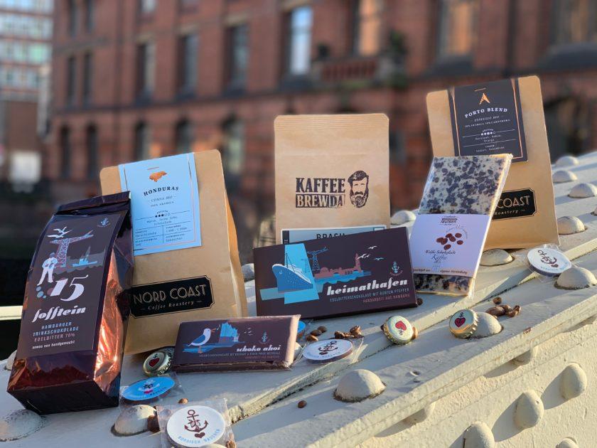 Schokolade und Kaffee aus der Speicherstadt für zu Hause.